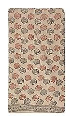 Gulmohar Women's Cotton Unstitched Dress Material (Cream)