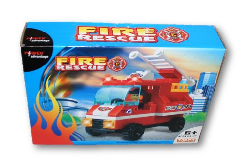 Fire Rescue Block Set - 70 Pieces