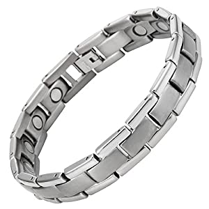 Willis Judd New Mens Golf Titanium Magnetic Therapy Bracelet in Velvet Box with Free Link Removal Tool