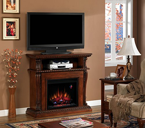 Corinth Dual Entertainment Mantel in Vintage Cherry 23DE1447-C233 MANTEL ONLY