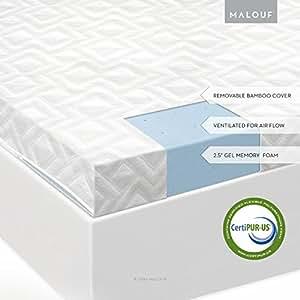 "Isolus 2 5"" Ventilated Gel Memory Foam Mattress Topper 3"