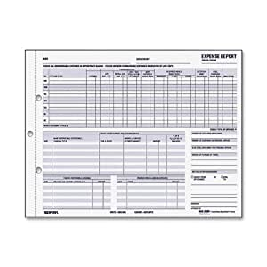 Rediform Expense/Non-Reimbursable Record, Carbonless Duplicate, Letter Size, 50 Sets per Pack (44B-950N)
