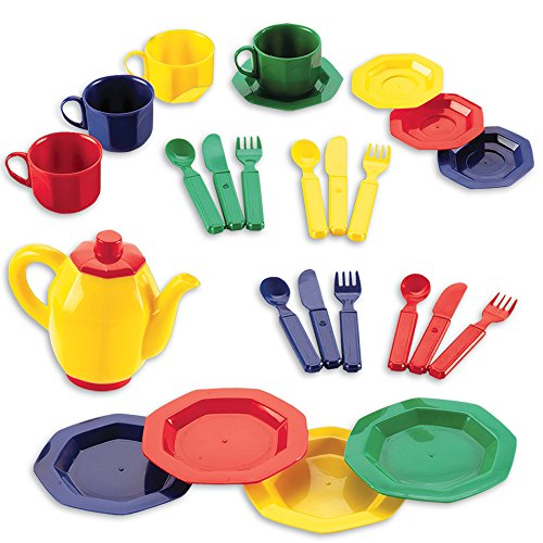 Toy Food And Dishes : Educational insights dishes set toys games pretend