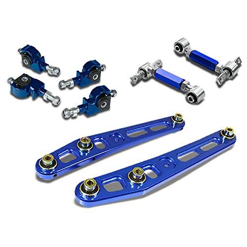 Civic/Del Sol/CRX/Integra Lower Control Arm+Front+Rear Camber Suspension Kit (Blue) - ED EK (94 Honda Civic Rear Suspension compare prices)