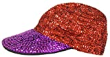 513y kiIa1L. SL160  Red Hat Lady Society / Sequin Cap / Purple Brim w/ Red Top Sequin / Wow, pretty! / Adjustable