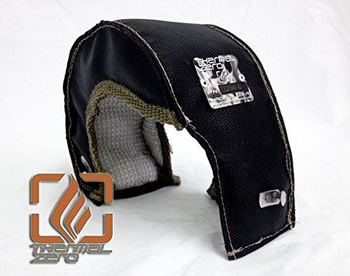 Thermal Zero Small Black T25 T28 T3 Turbo Blanket Holds 2400 degrees. MADE IN USA unlike the rest. Fits most small frame INTERNAL WASTEGATE housings including Garrett, Precision, Turbonetics etc. - TZ31847-B