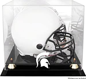 Michigan State Spartans Golden Classic Helmet Display Case with Mirrored Back by Mounted Memories