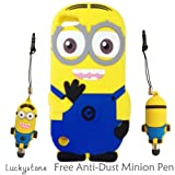 Disney 3D Cute Soft Silicone Cover Cases for Ipod Touch 5 5g 5th Generation (Double Eyes Minion - Style 7)