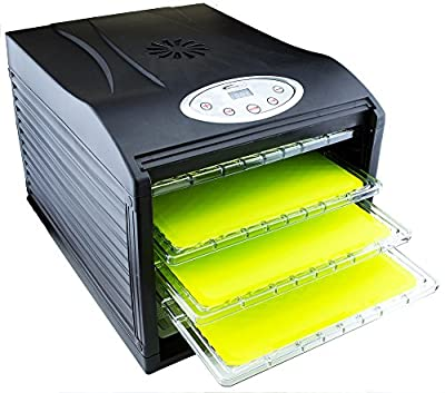 """3 Silicone Non Stick Sheets fits Samson """"Silent"""" Dehydrator 6-Tray with Digital Controls from Bright Kitchen"""