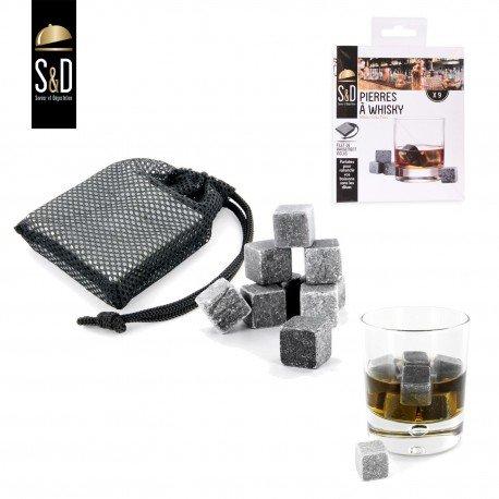 Pierre à whisky, glaçon refroidissant sans diluer la boisson
