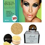 Bundle 3 Items : Mica Jewel Moisturizer Anti-aging Cream+mineral Foundation 9gr Mf5 Cappucino + Wine Rde Kabuki