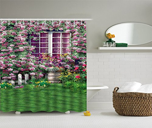 [SCOCICI Durable Fabric Shower Curtains,Stylish,Decorative,Unique,Cool,Fun,Funky.A Greenhouse( Size 70