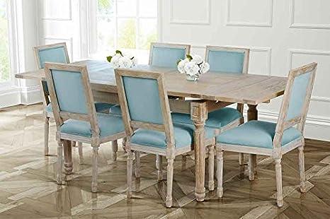 MY-Furniture ESTEBAN - Tavolo da pranzo grande estensibile in stile Francese Luigi