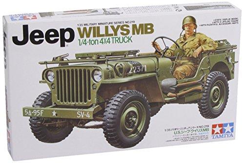 Tamiya 300035219 - Willys Jeep della seconda guerra mondiale MB 4 x 4 (1), 1:35