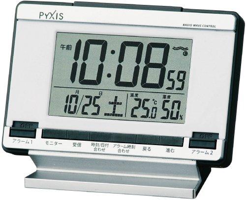 PYXIS (ピクシス) 目覚まし時計 デジタル 電波時計 NR529S NR529S