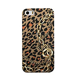 Heartly Leopard Style Printed Design High Quality Hard Bumper Back Case Cover For Apple iPhone 4 4S 4G - Tiger Pattern With Chain