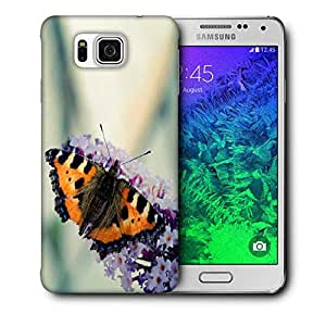 Snoogg Butterfly In White Flower Printed Protective Phone Back Case Cover For Samsung Galaxy SAMSUNG GALAXY ALPHA