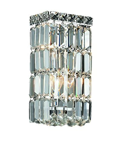Crystal Lighting Maxim Collection 12″ Wall Sconce, Chrome