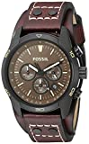 Fossil Men's CH2990 Coachman Chronograph Leather Watch - Dark Brown