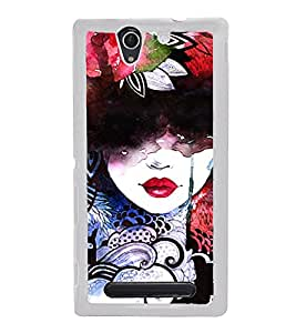 Colourful Girl Graffiti 2D Hard Polycarbonate Designer Back Case Cover for Sony Xperia C3 Dual :: Sony Xperia C3 Dual D2502