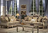 Parma 3 Pieces Vintage Style Collection Sofa Set (Sofa, Loveseat, Coffee Table)