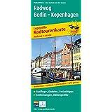 Radtourenkarte Leporello Radweg Berlin - Kopenhagen: Mit Ausflugszielen, Einkehr- und Freizeittipps, reißfest, wetterfest, abwischbar, GPS-genau. 1:50000