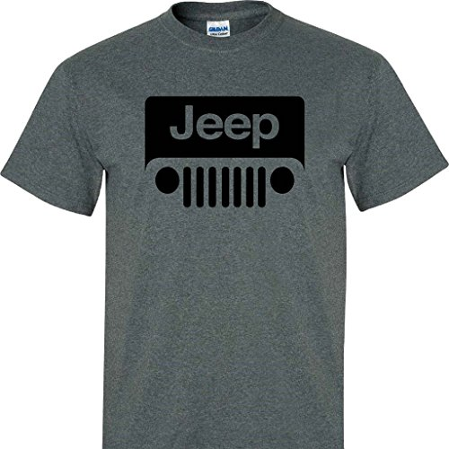 Dark Heather Jeep Wrangler Logo Tee Shirt