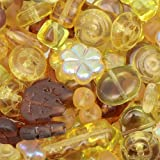 Gold Czech Glass Mix Beads 50 gram Pack