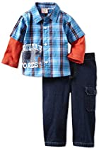 Dr. Seuss Baby-Boys Infant 2 Pack Playwear, Blue, 24