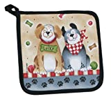 Kay Dee Designs Printed Cotton Potholder, 8-Inch by 8-Inch, Woof
