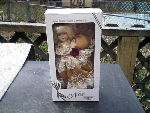 Vintage Collectible Limited Edition 1987 Porcelain Gorham Noel Doll Ornament