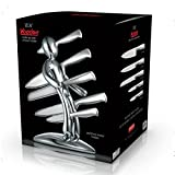 The EX® Voodoo® Knife Block Set Collectors Edition in SOLID METAL With High Quality German Made Knives