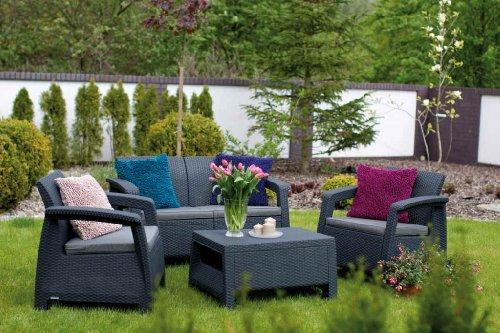 Allibert-Lounge-Set-Corfu-Setanthrazit-graue-Kissen-Polyrattan-Optik-Kunststoff-Gartenmbel-Sitzgruppe