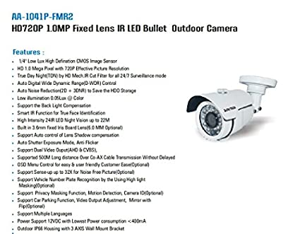 Avtron-AA-1041P-FSR2-HD720P-IR-Bullet-CCTV-Camera