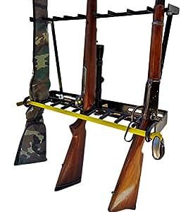 Amazon 9 Gun Locking Gun Rack Vertical Floor