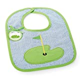 Mud Pie Country Club Baby Decorated Blue Seersucker Bib, Golf