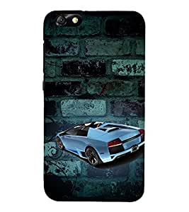 Sports Car Graffiti 3D Hard Polycarbonate Designer Back Case Cover for Huawei Honor 4X :: Huawei Glory Play 4X