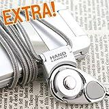 [HandLinker]ハンドリンカーエクストラ携帯ネックストラップ(シルバー)【スマートフォン/iPhone4/iPhone3G[S]/Xperia/GALAXY S/IS03/デジカメ/携帯に】