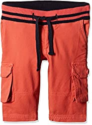 UFO Boys' Shorts (AW16-NDF-BKT-571_Coral_4 - 5 years)