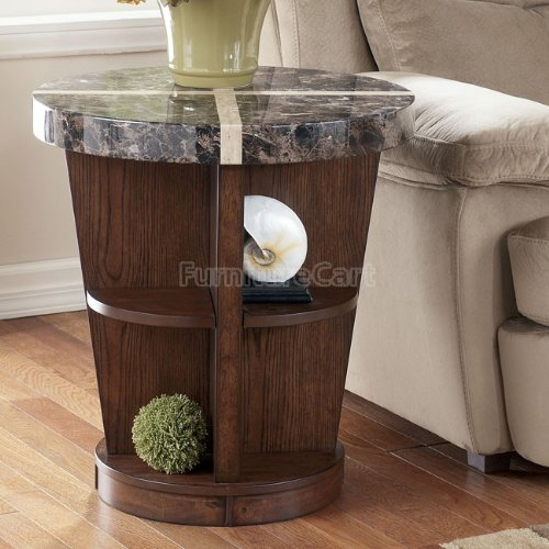 Cheap Contemporary Medium Brown Lacey End Table (T678-6)