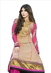 Adah Fashions Women Georgette Un-Stitched Salwar Kameez Dress Material (555-210A)