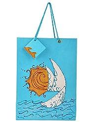 Richa Kriti Paper Blue Shopping Bag