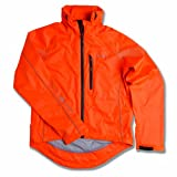 Polaris Men's Quantum Waterproof Cycling Jacket Fluo Orange Medium