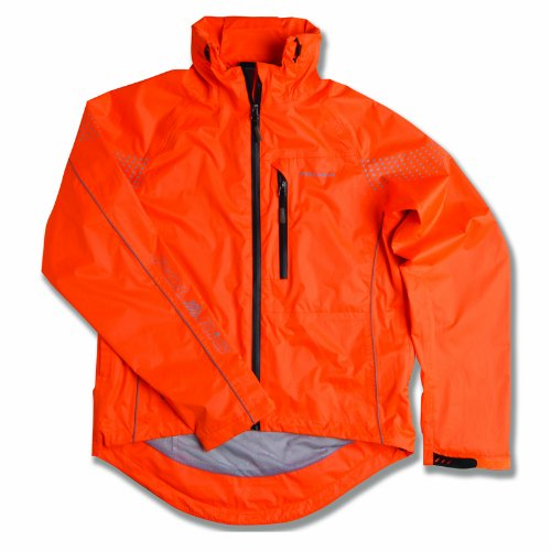 Polaris Men's Quantum Waterproof Cycling Jacket Fluo Orange X-Large
