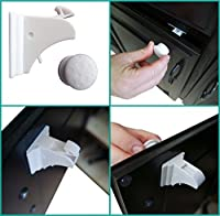 Baby Safety Magnetic Locks - Secure Cabinets and Drawers - No Tools Required from Jessa Leona Baby