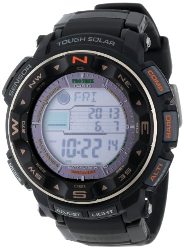 Casio Men's PRW-2500R-1CR Pro Trek Tough Solar Digital Sport Watch (Black Watch Of Canada compare prices)