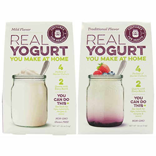 Cultures for Health - (1) Traditional Flavor Yogurt & (1) Mild Flavor Yogurt Starter Cultures (0.6 oz each) (Yogurt Culture Heirloom compare prices)
