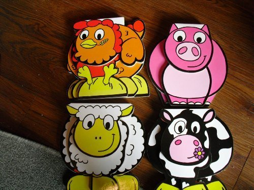 4 Books Learn A-F With Sheep/ Learn G-L With Cow/ Learn M-S With Pig/Learn T-Z With Hen!