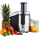 VonShef Professional Powerful Whole Fruit Juicer 990W Max Power Motor with Juice Jug and Cleaning Brush