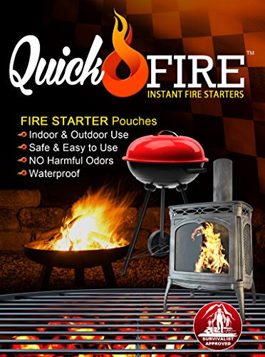Best Buy! QuickFire, Instant Fire Starters. Waterproof, Odorless, Safe And Easy To Use. Survivalist ...